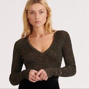 Brand New Veronica Beard metallic blouse